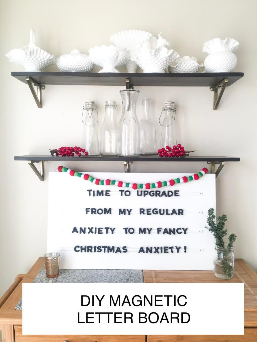 Diy Magnetic Letter Board